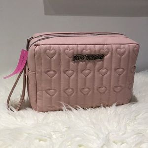 Betsey Johnson extra large heart makeup carry-all